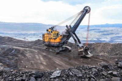 Mountain top coal mine
