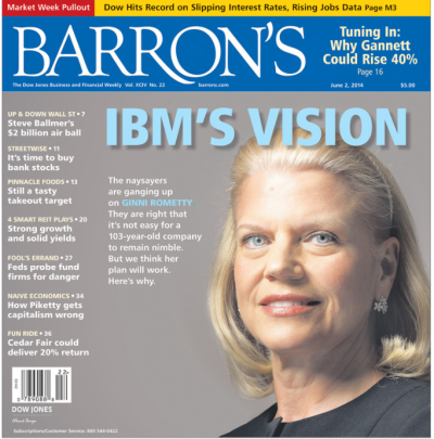Barrons IBM cover