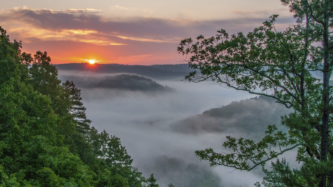 Arkansas, Buffalo River sunrise