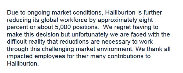 HAL Layoff statement