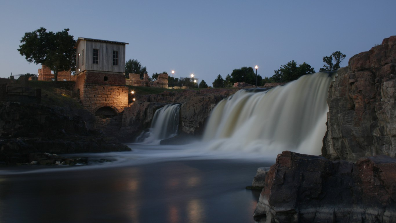 Sioux Falls at dawn, South Dakota