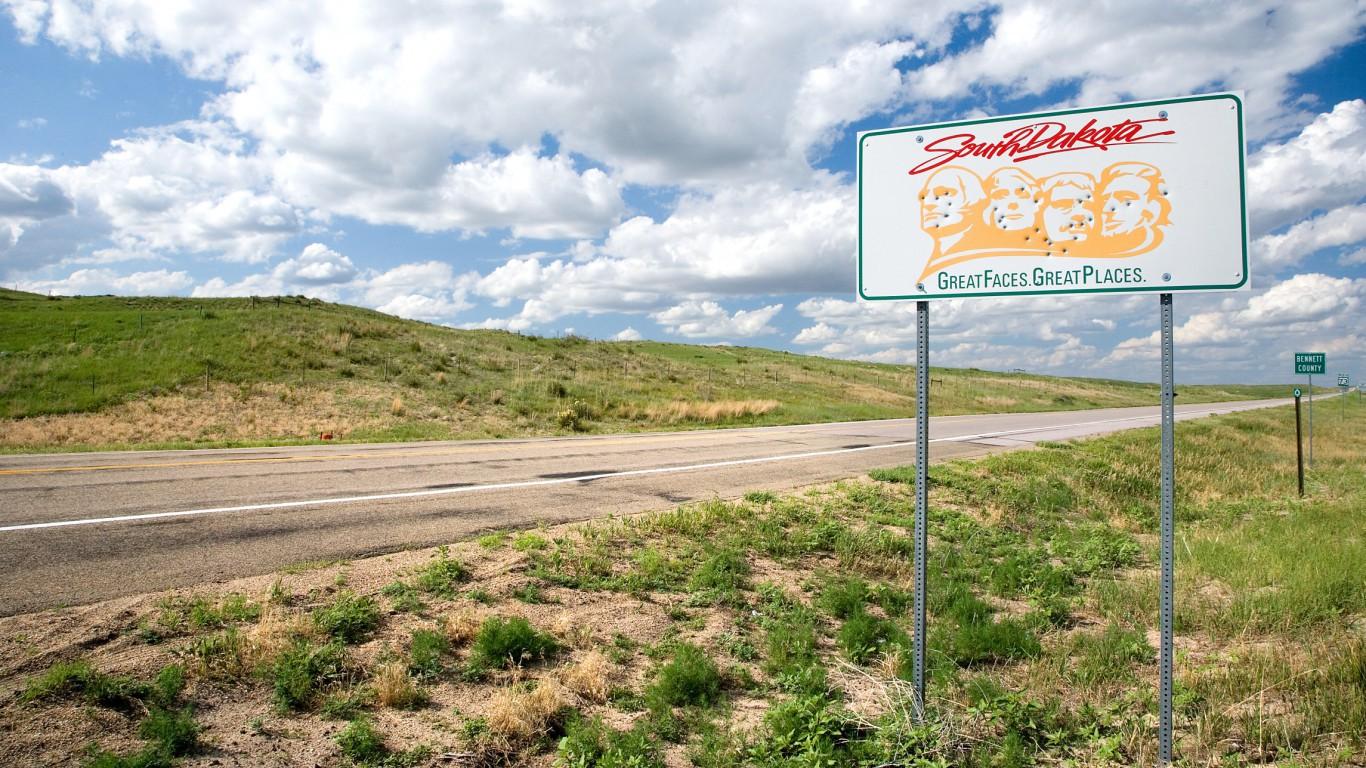 South Dakota, Road Sign