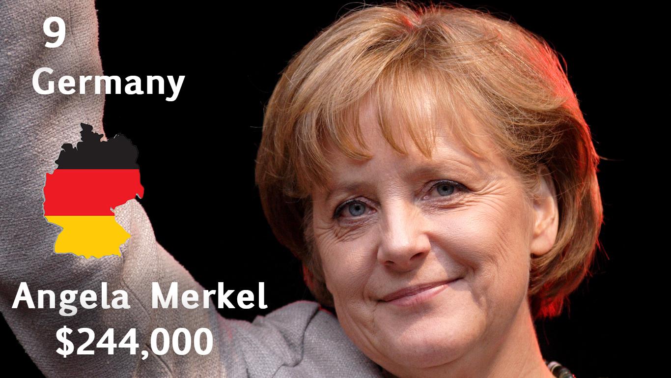Angela Merkel, Chancellor of Germany (salary)