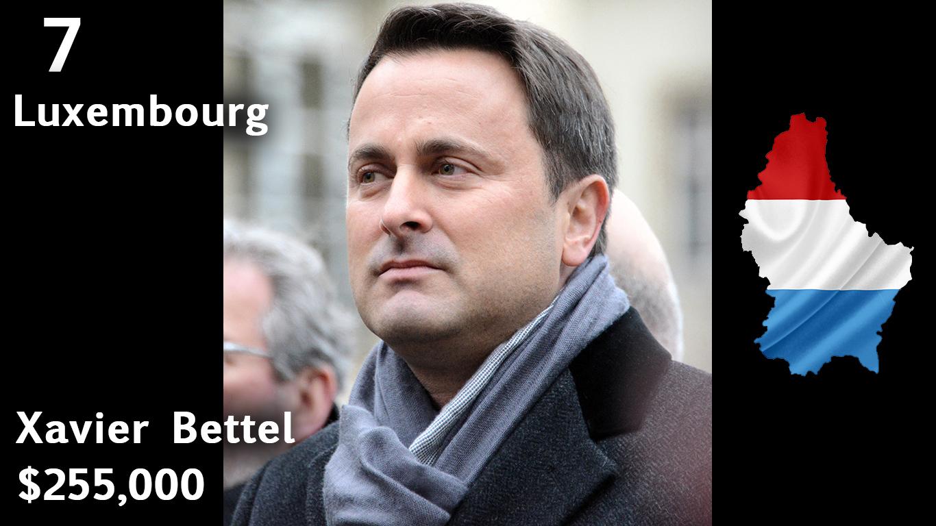 Xavier Bettel, Prime Minister of Luxembourg (salary)