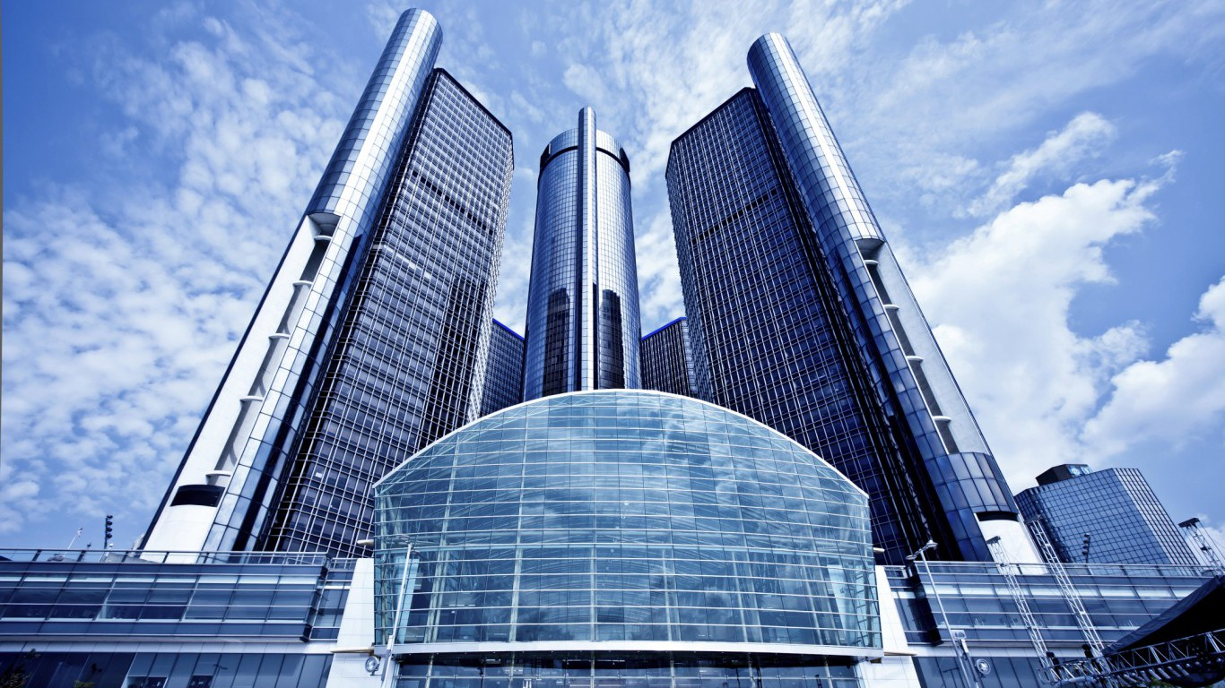 General Motors (GM) headquarters in Detroit