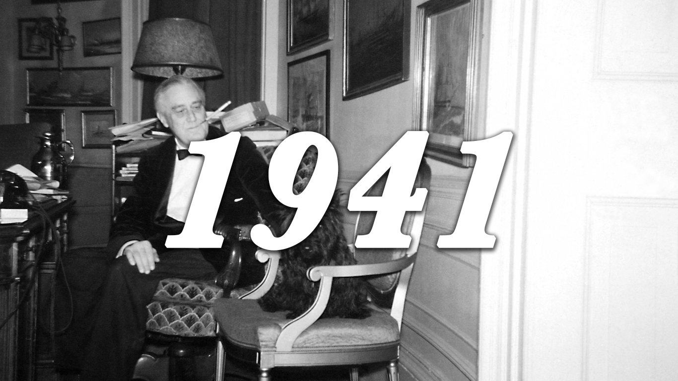 1941 FDR and dog