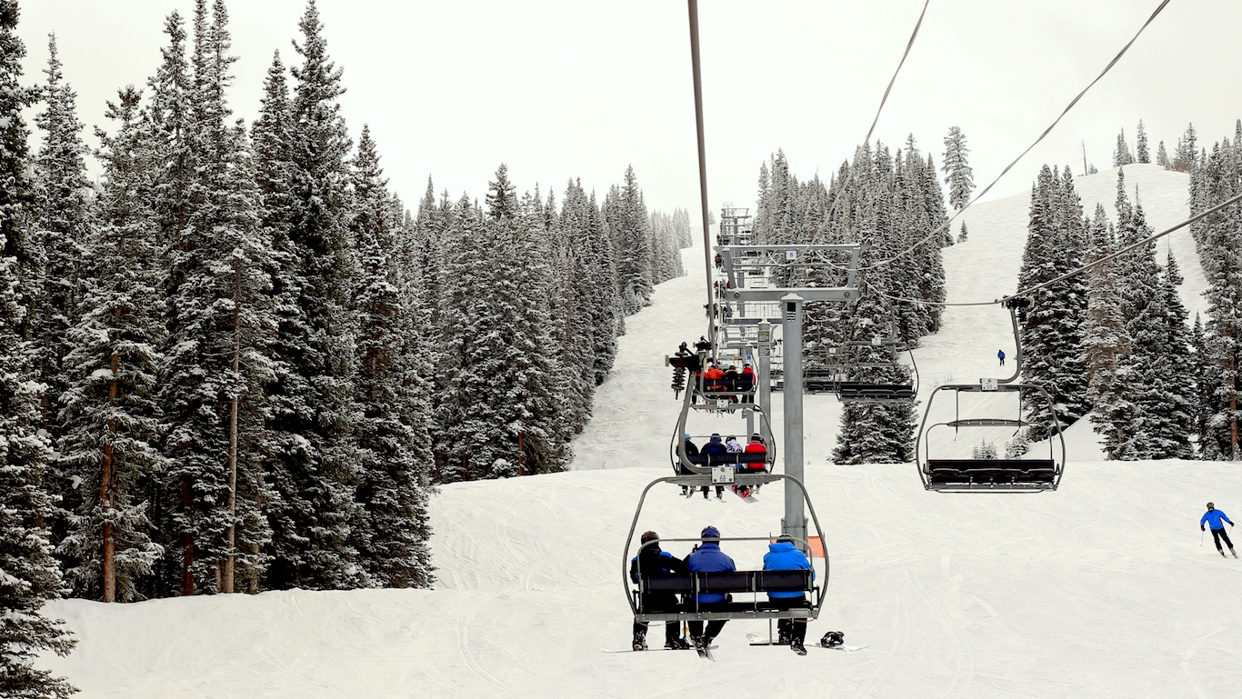 chairlift, skiing, colorado