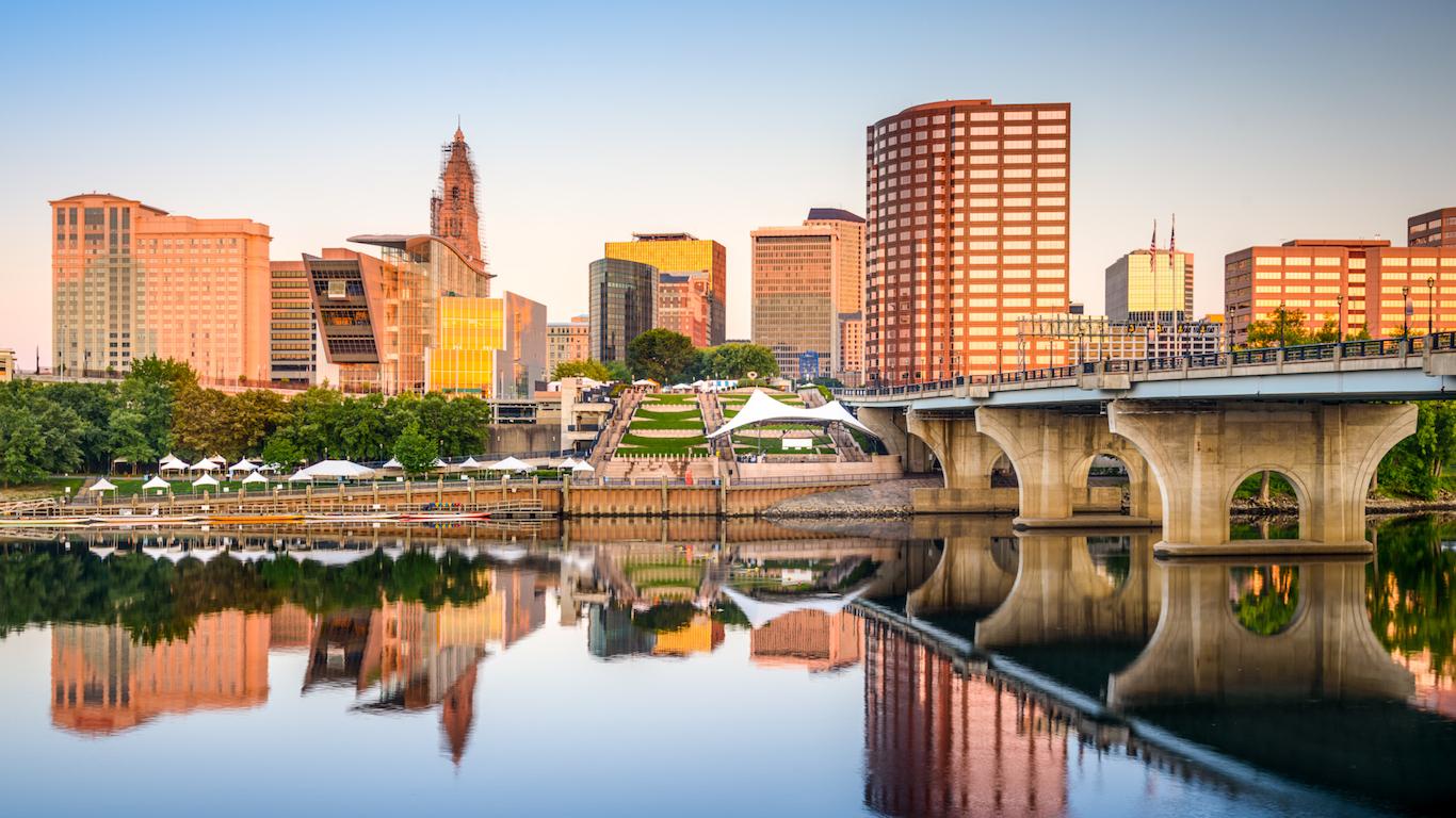 Hartford, Connecticut dusk
