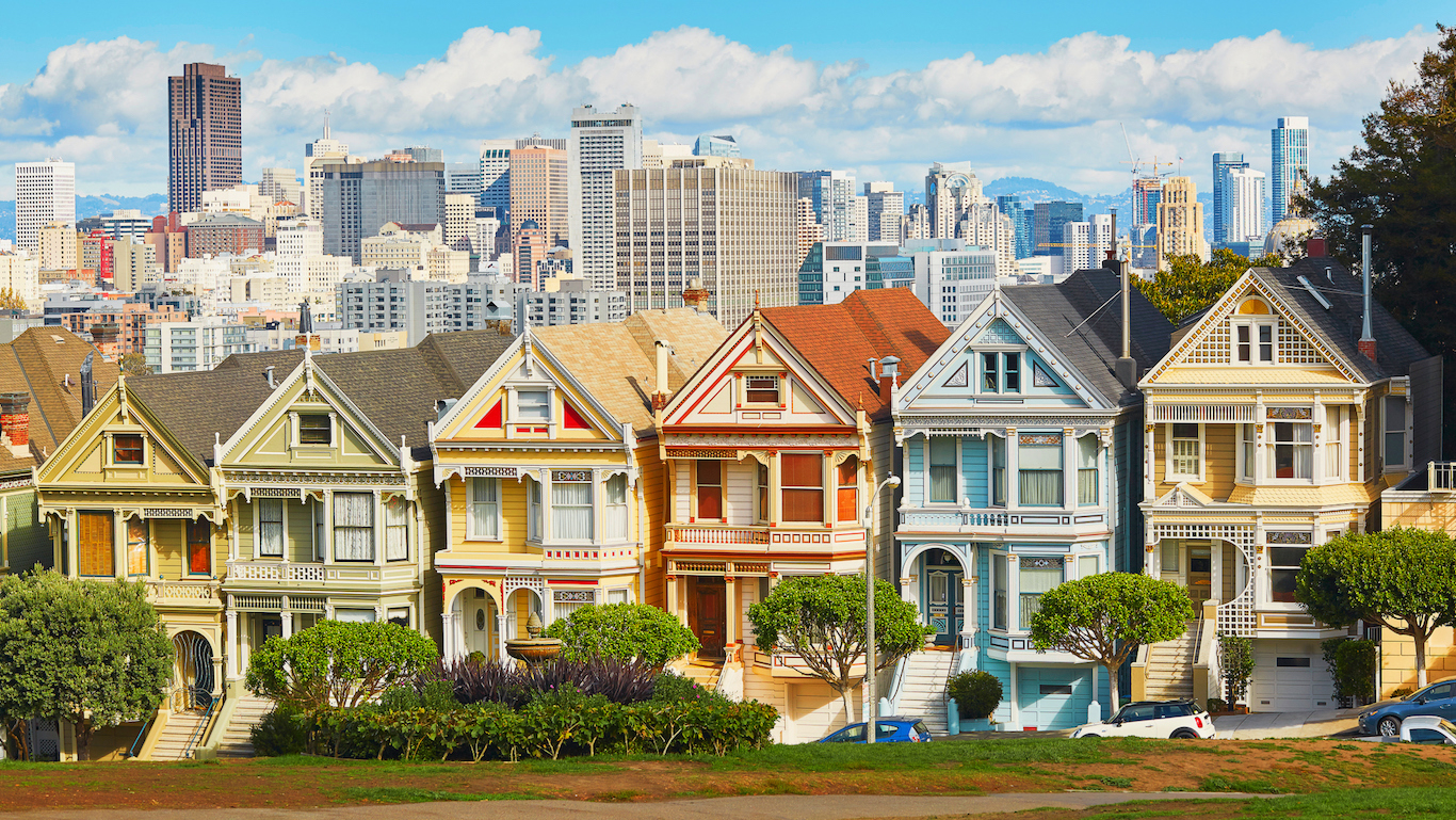 Painted Ladies, San Francisco, California, USA