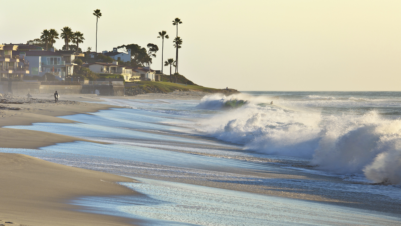 San Diego, California, Waves