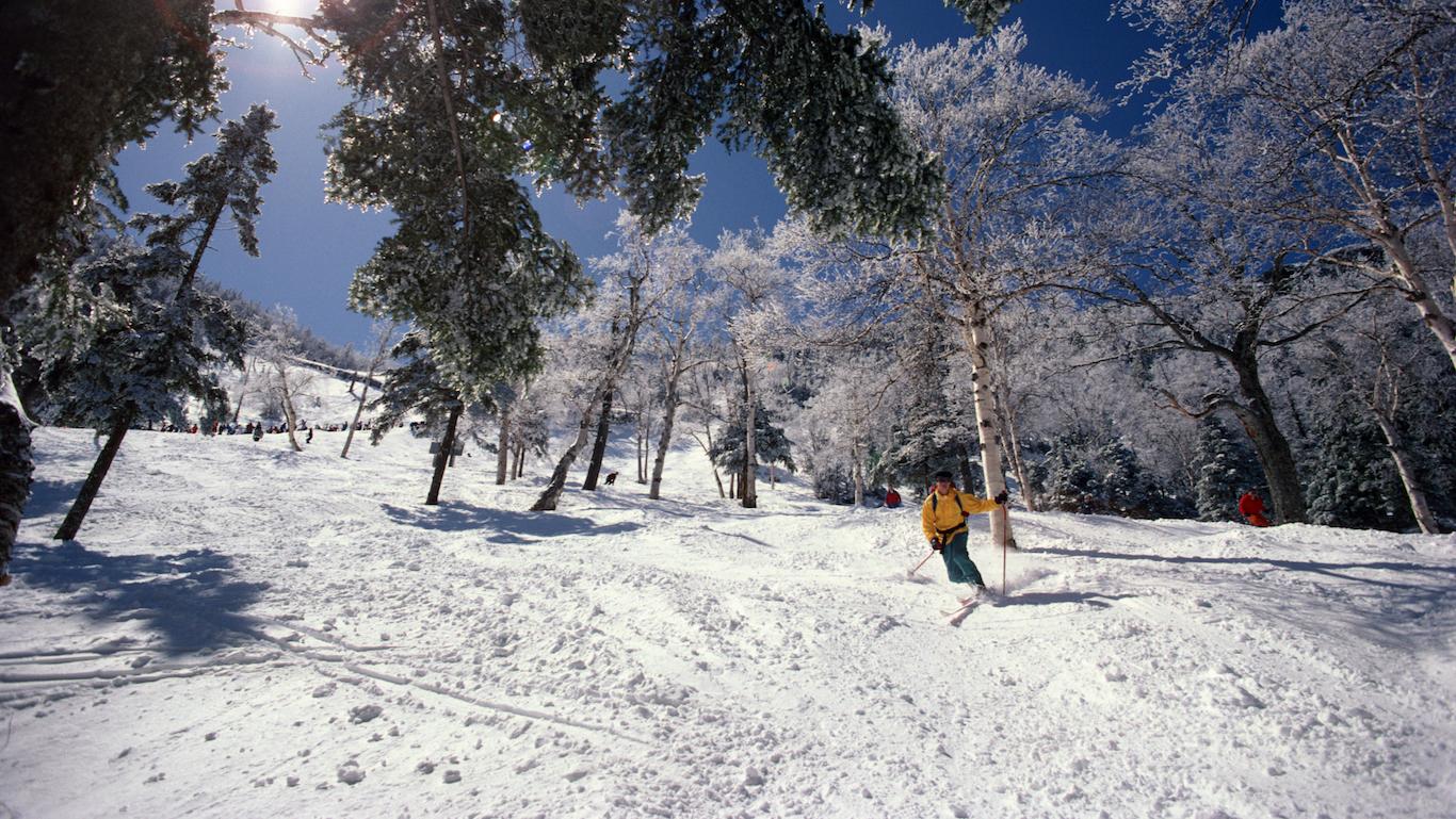 Stowe, Vermont, skier
