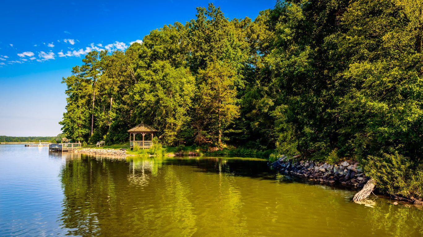 Lake Crabtree Park in Morrisville, North Carolina