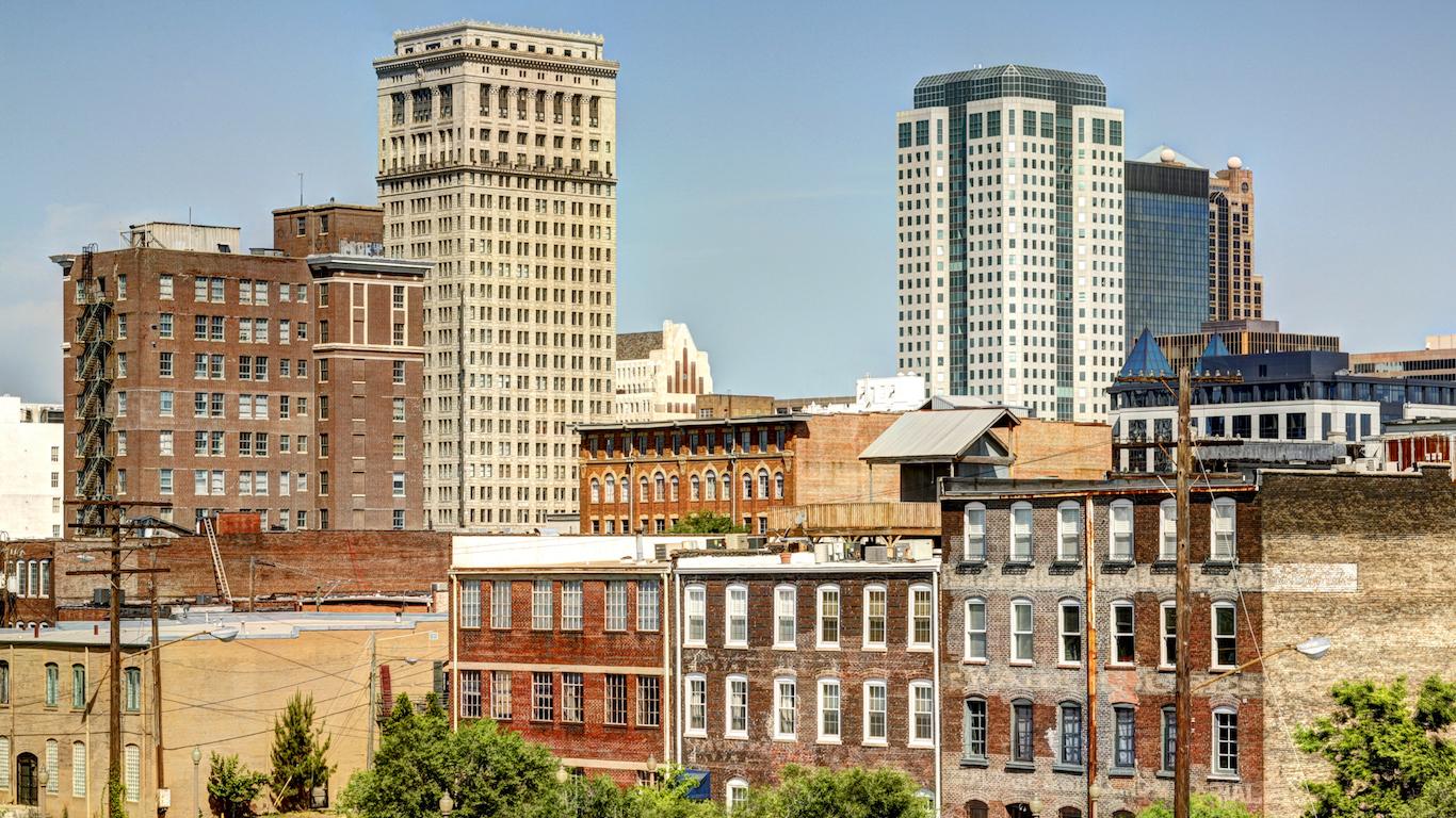 Skyline of Birmingham in Alabama City