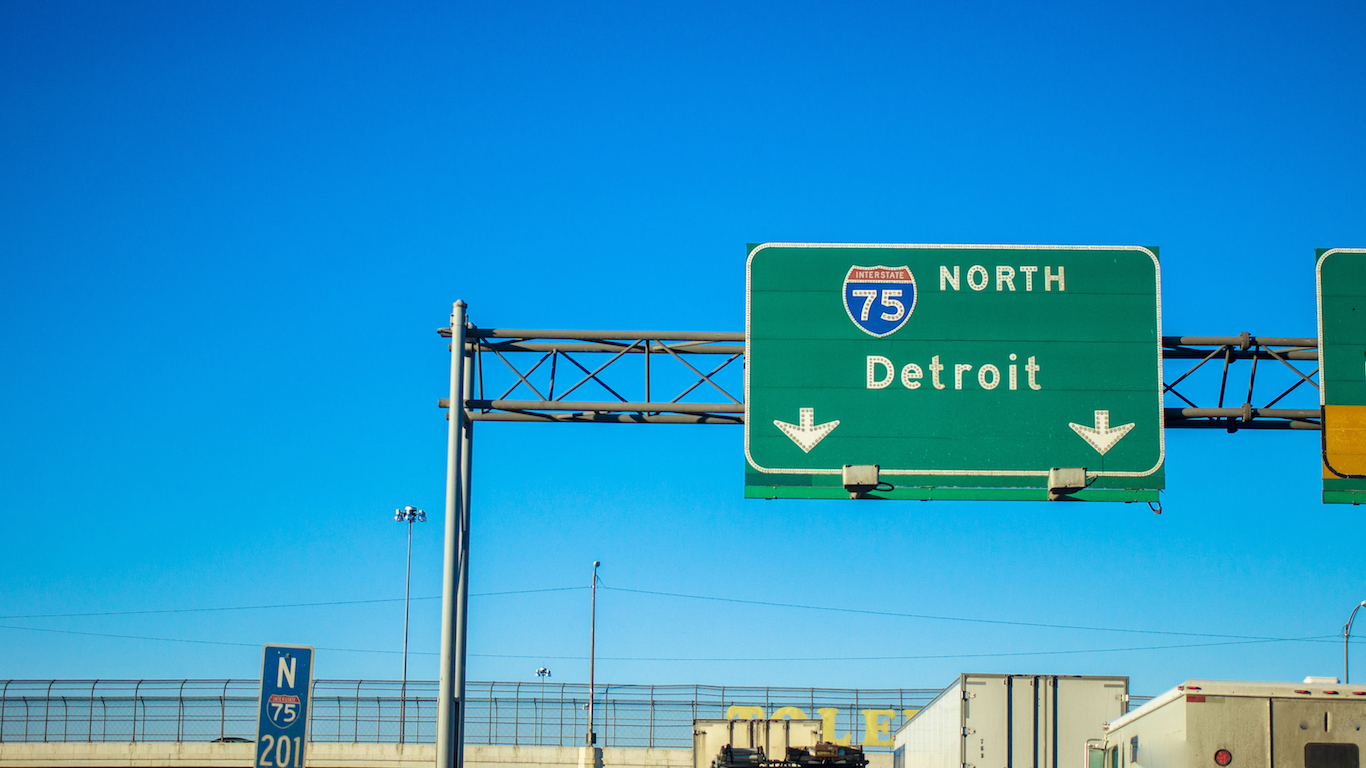 Northbound Interstate 75, Detroit, Michigan
