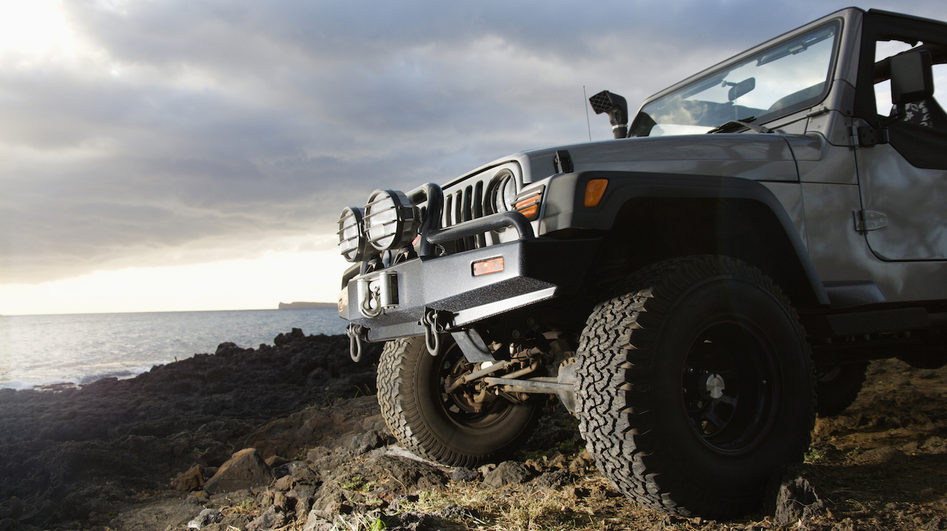 SUV at Coast hawaii