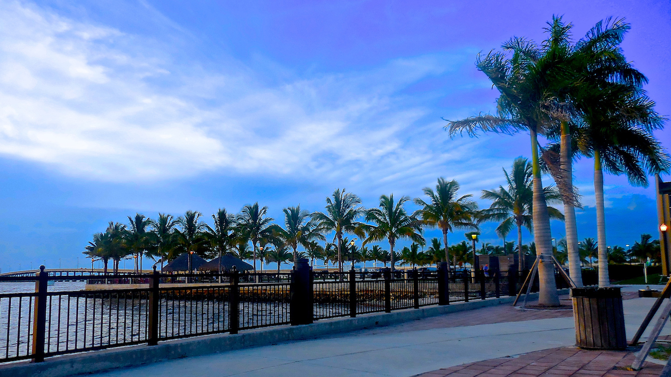 Harbor walk on Charlotte Horbor in Punta Gorda, FL