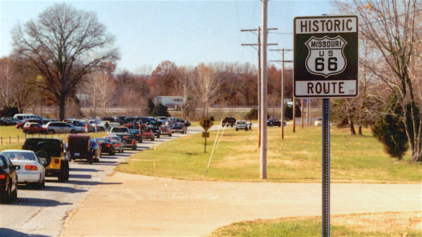Arriving at Route 66 State Park, Missouri