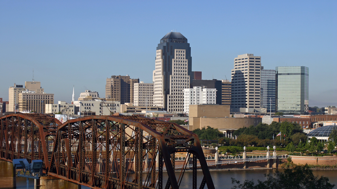 Downtown Skyline Shreveport Louisiana
