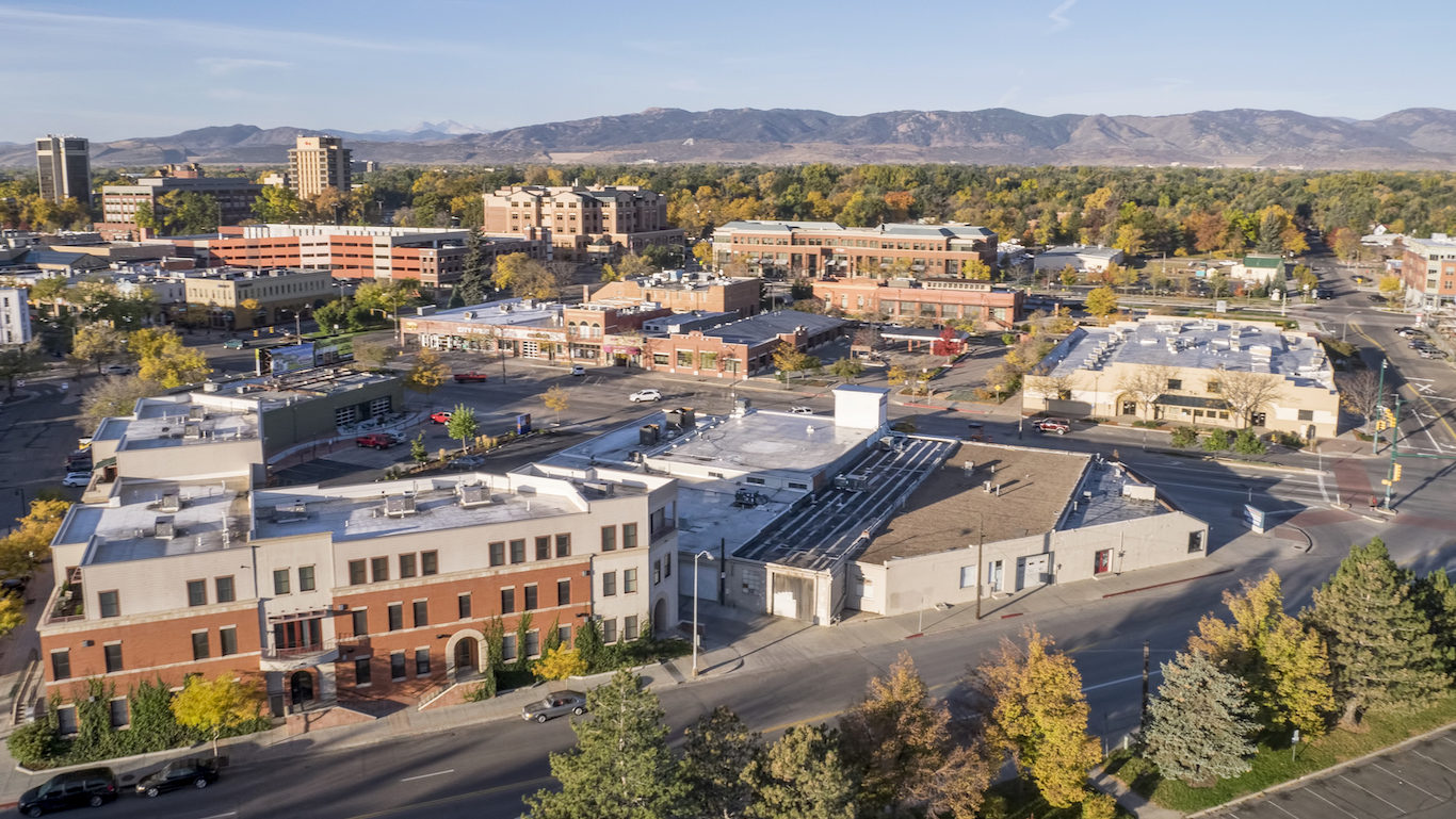 Fort Collins downtown Colorado