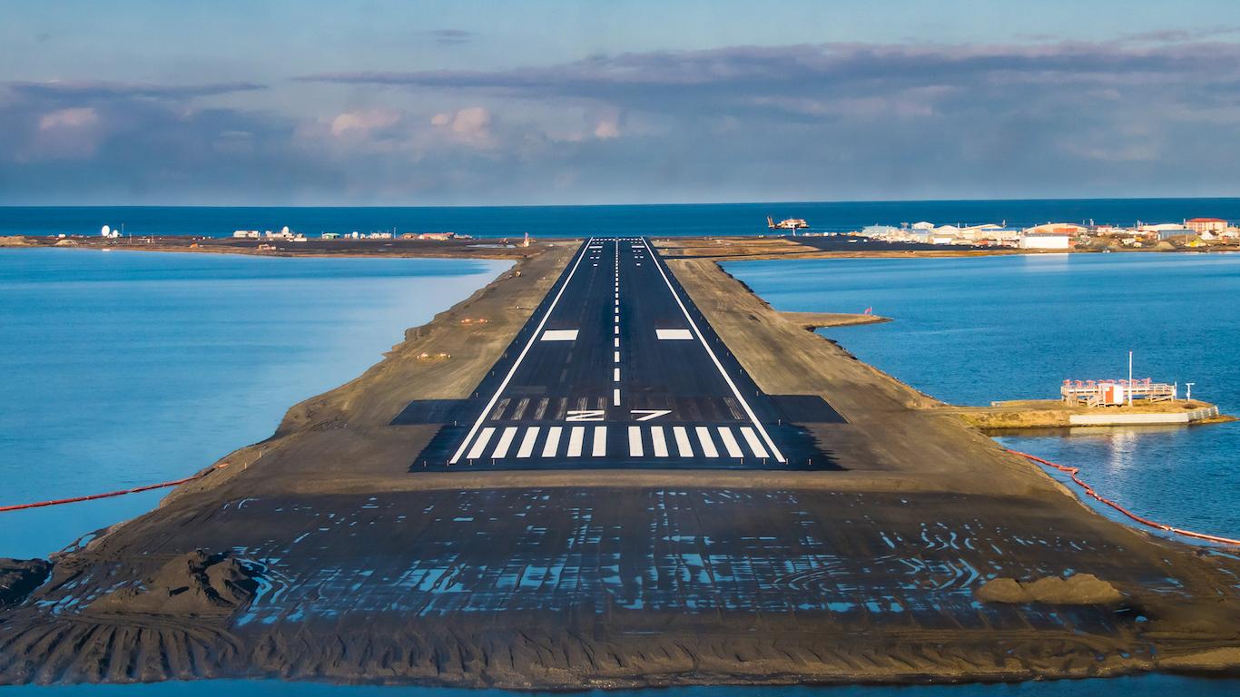 Coming in for a landing in Kotzebue, Alaska