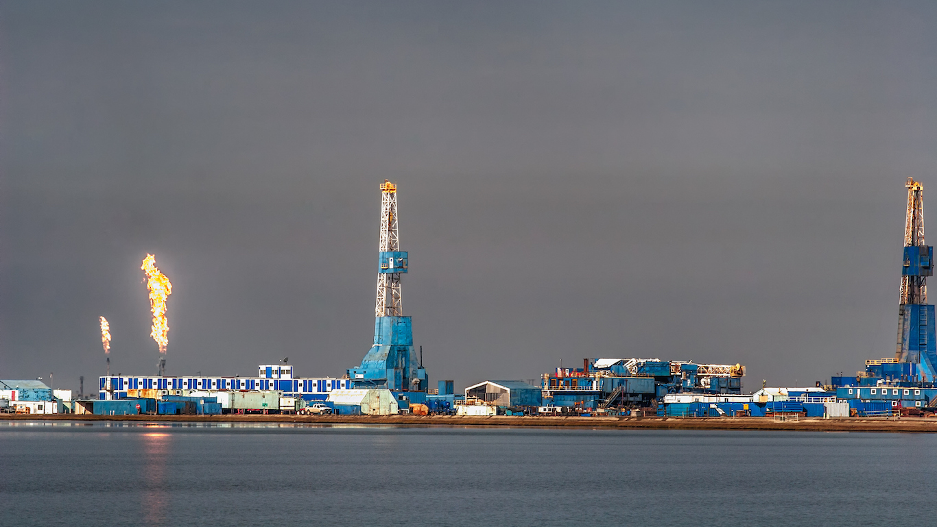 Oil infrastructure at Prudhoe Bay