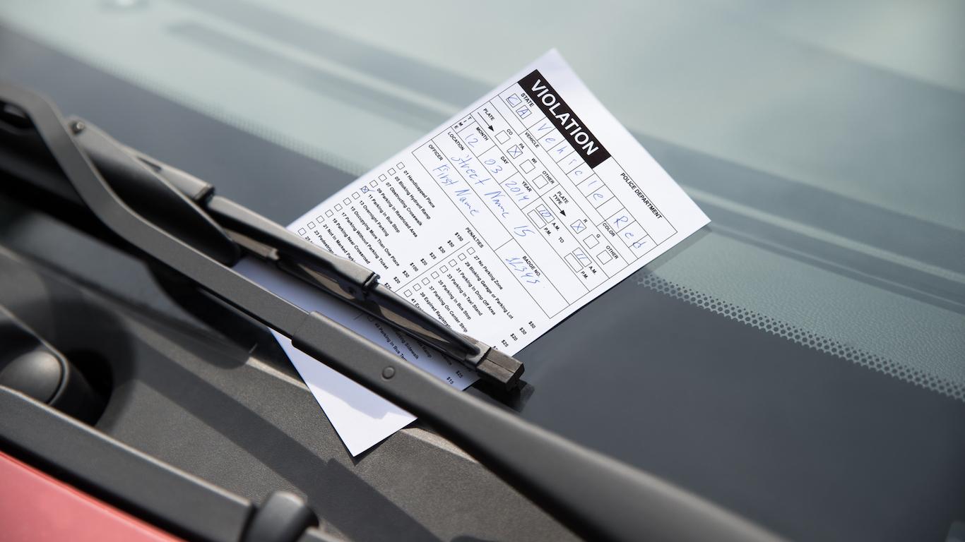 Parking Ticket On Car, parking enforcement worker