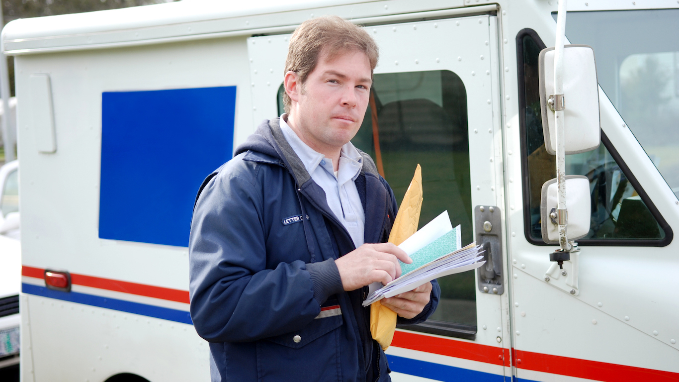 Dilevering Mail , Postal Service Worker, Mail man
