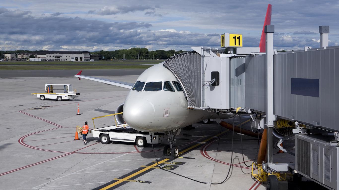 Airplane, in Bradley Airport, Hartford, Connecticut