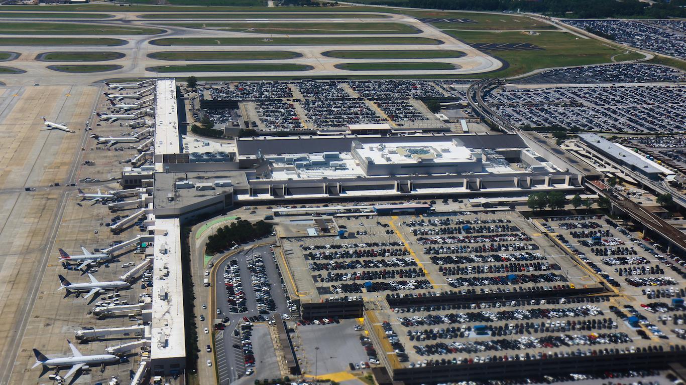 Atlanta Hartsfield international airport main terminal and parking