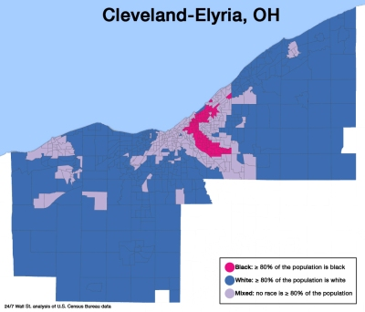 cleveland-elyria-oh-map