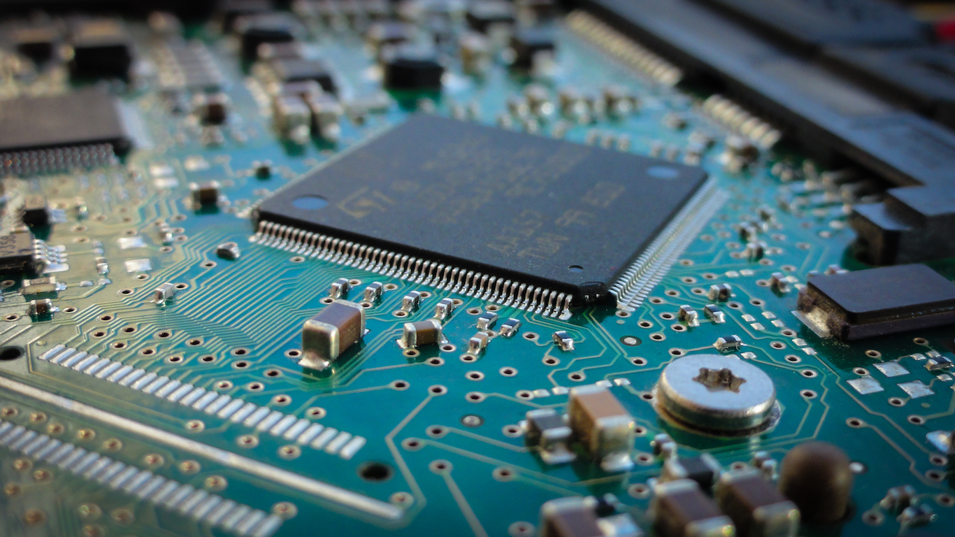 Computer chip, Computer and electronic products manufacturing
