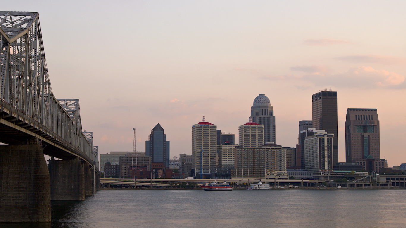 Louisville at dusk, Kentucky
