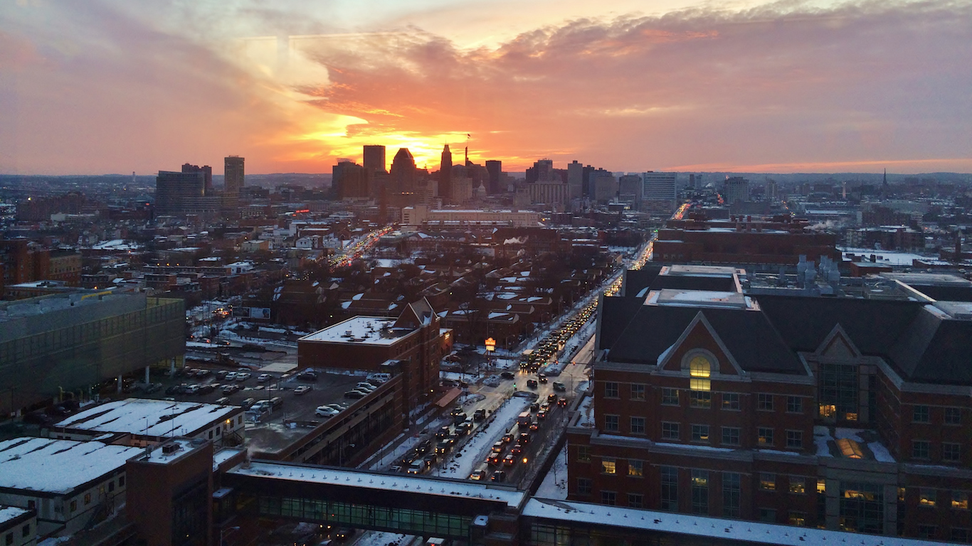 Baltimore, Maryland sunset