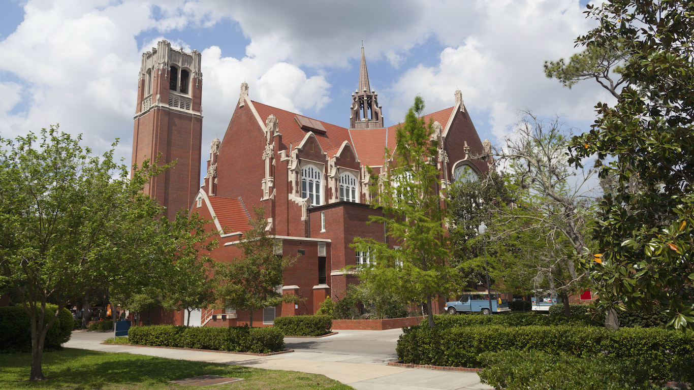 University of Florida Auditorium and Century tower, Gainesville, Florida