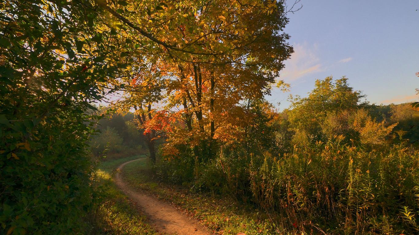 Dirt Path on a Fall Day, Waukesha, Wisconsin