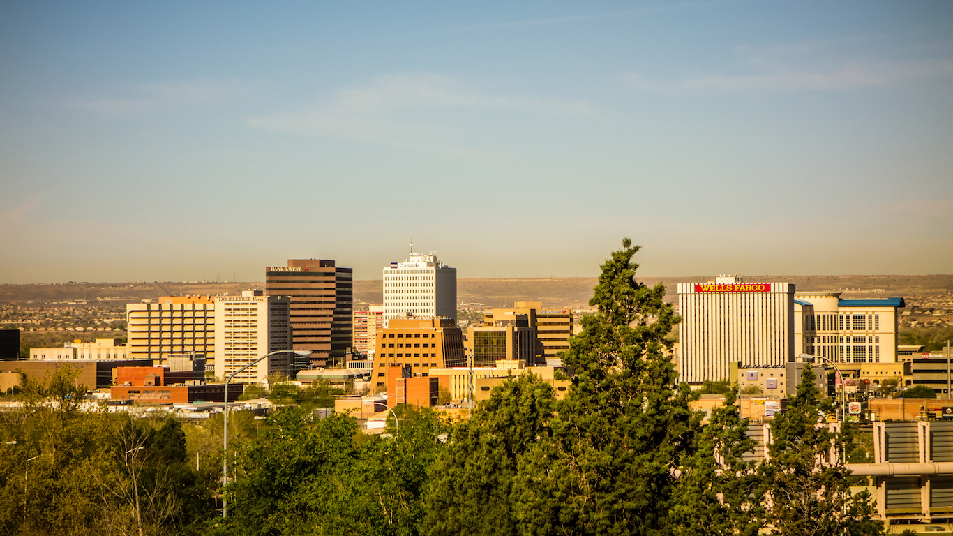 Albuquerque, New Mexico skyline of downtown