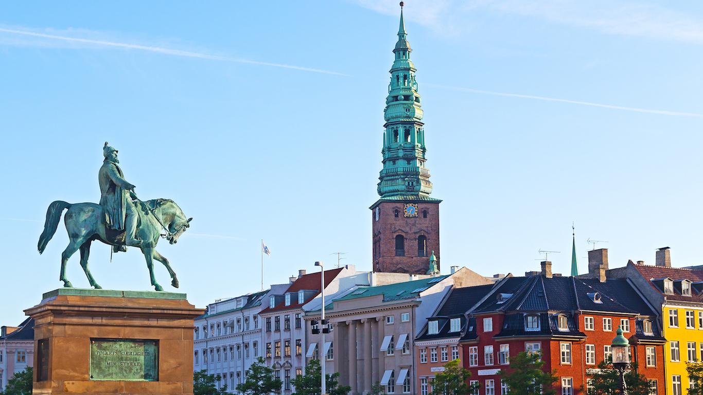 Equestrian statue of Frederik VII, Copenhagen, Denmark.