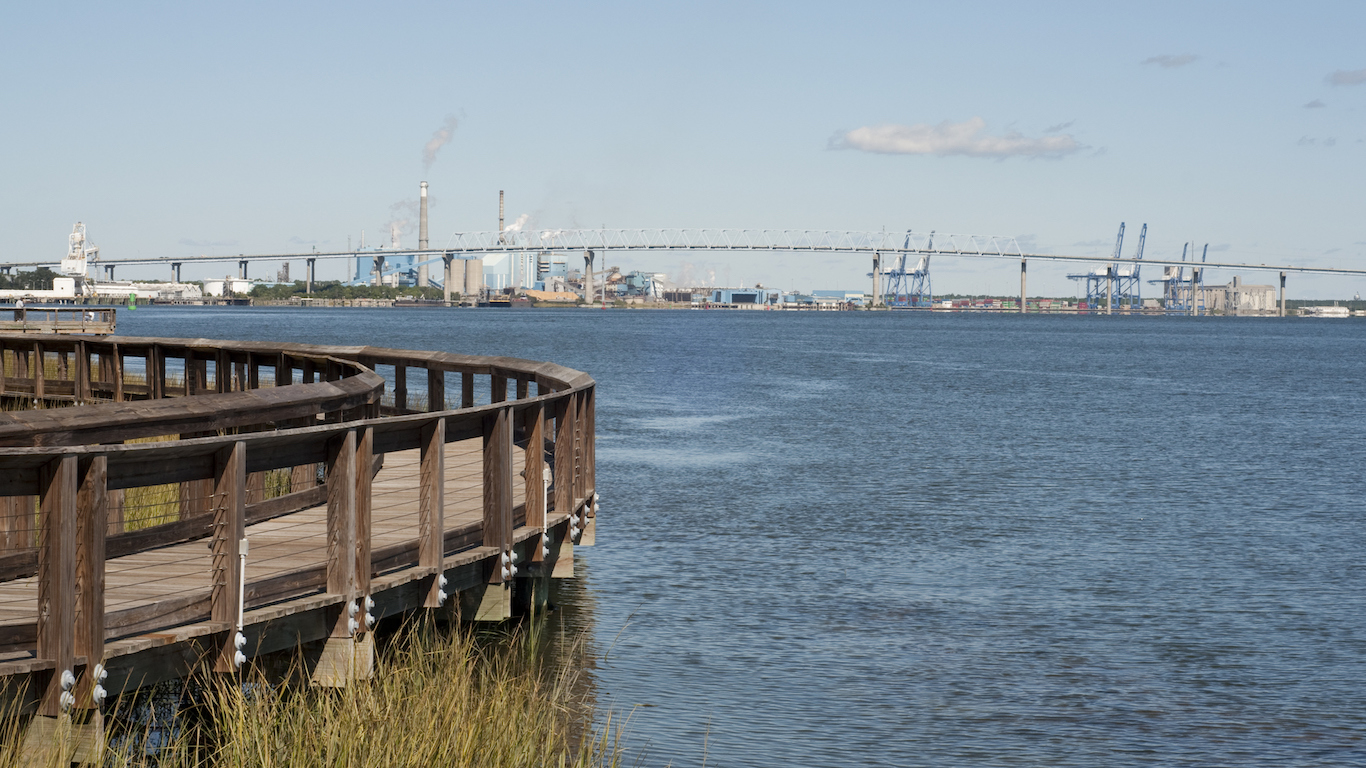 View of Interstate 526 Bridge in North Charleston, South Carolin