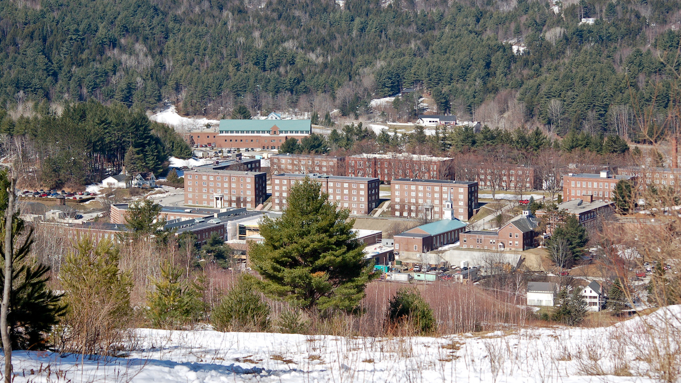 Norwich University campus from Paine Mountain, Vermont