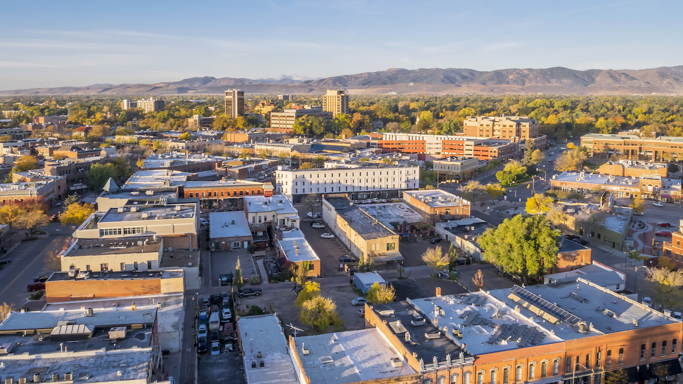 Fort Collins downtown, Colorado
