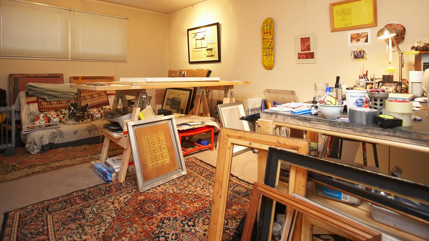 Framing contractors, art studio