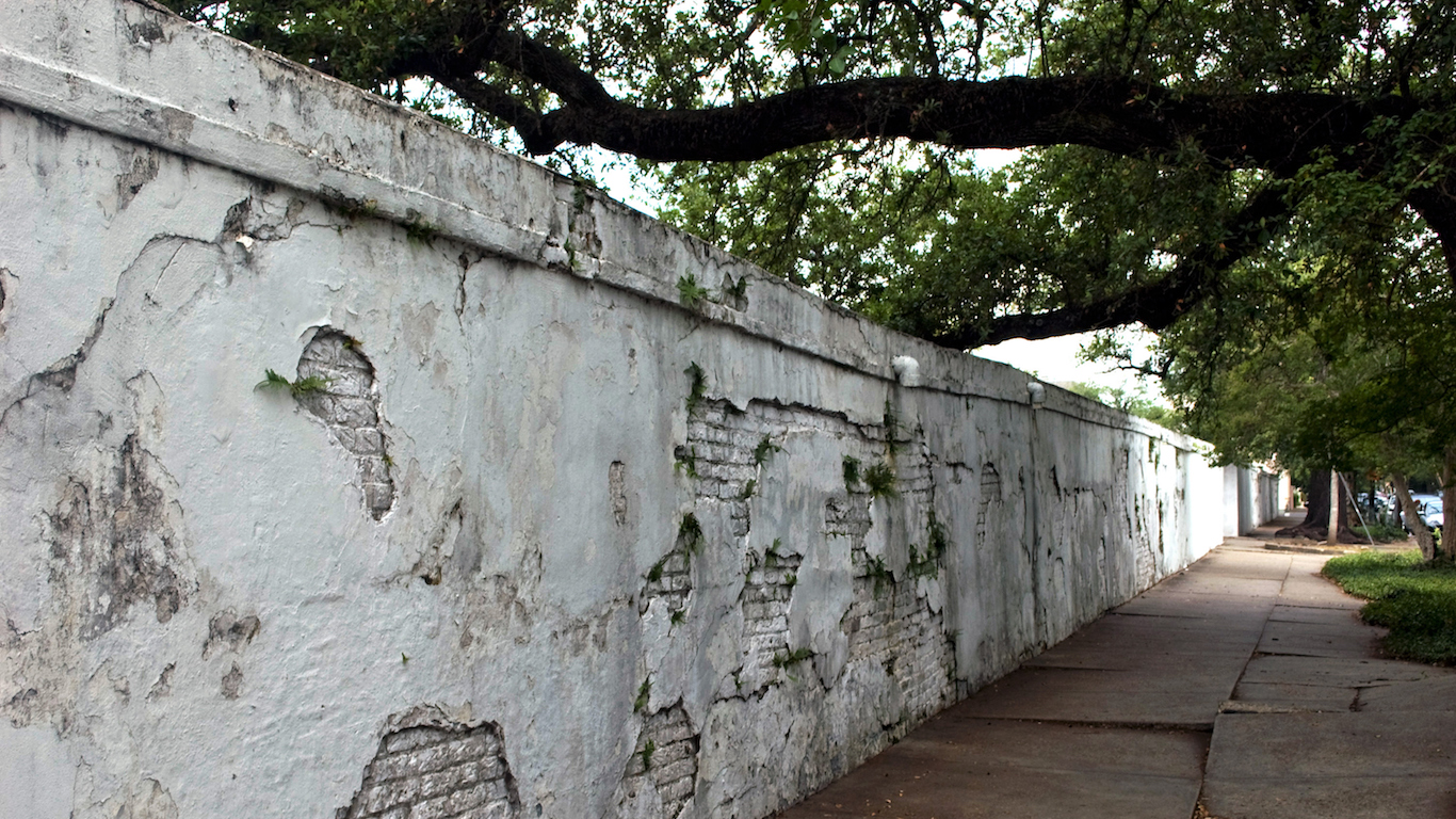Whitewashed Wall around Lafayette, Louisiana