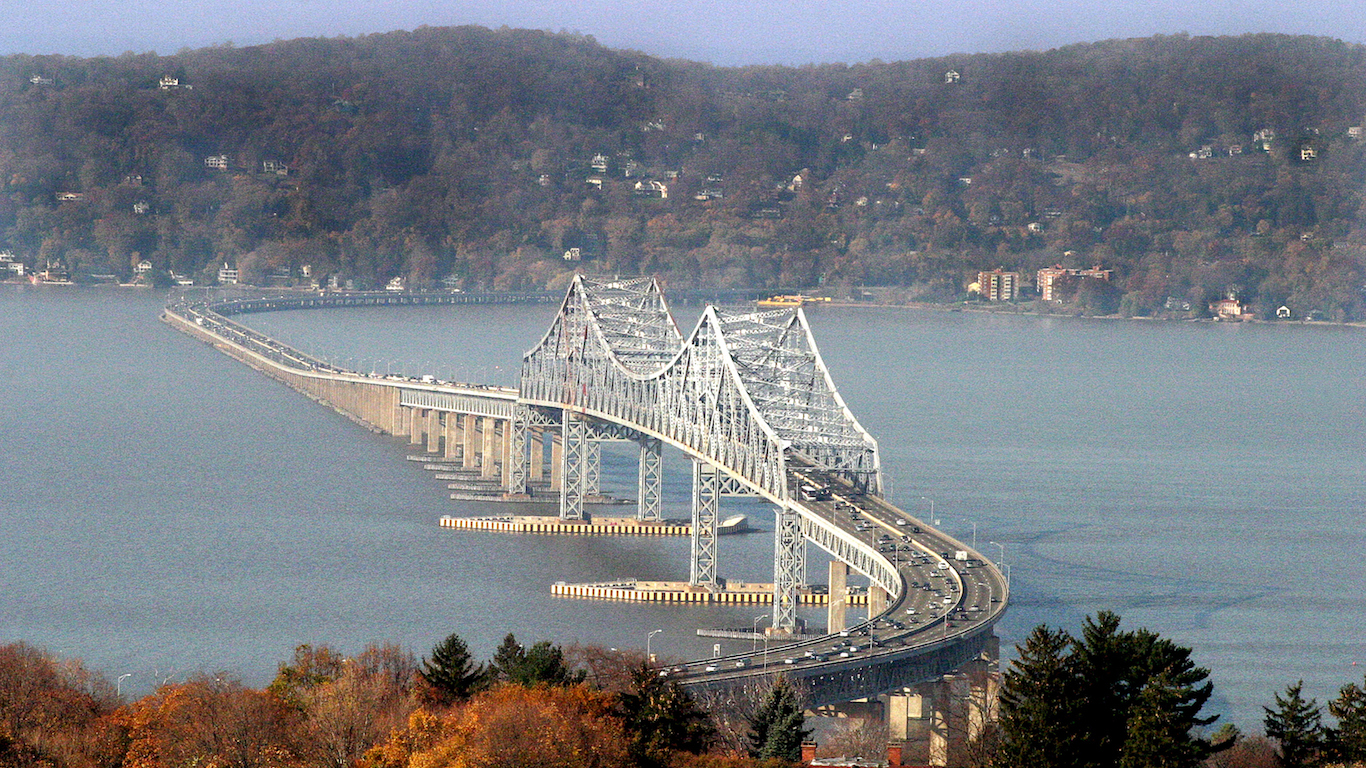 The Tappan Zee from the Castle, Rockland County, New York