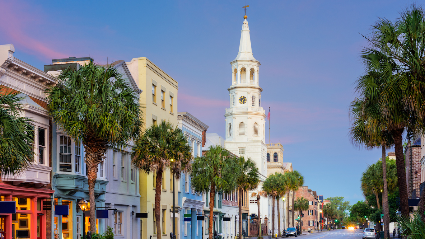 Charleston, South Carolina, USA in the French Quarter.