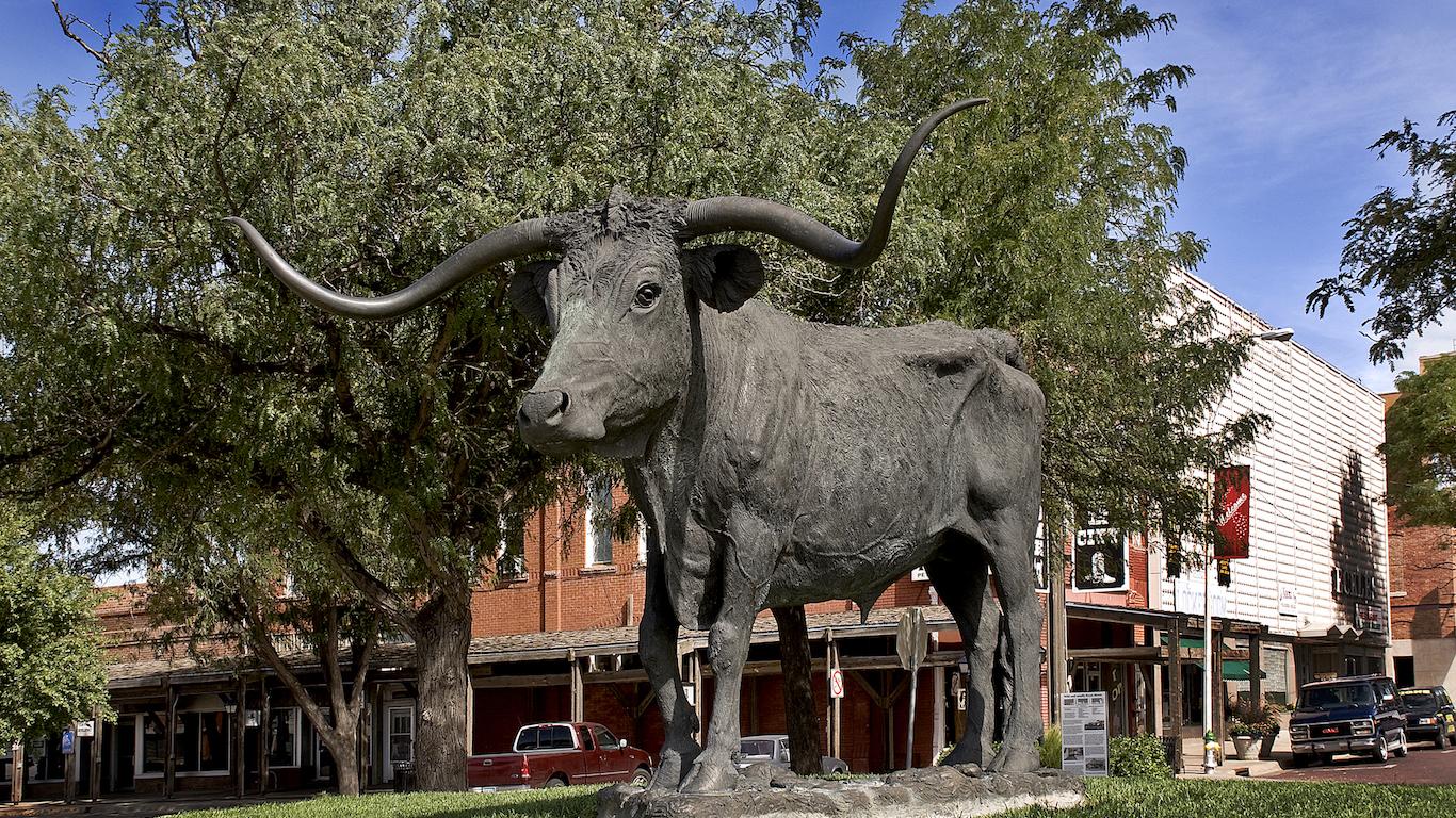 Longhorn Statue in Dodge City, Kansas