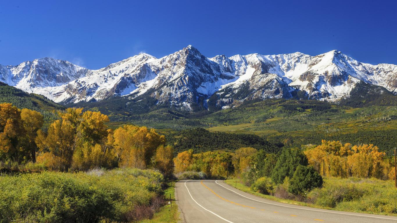 Mountains Road in Colorado
