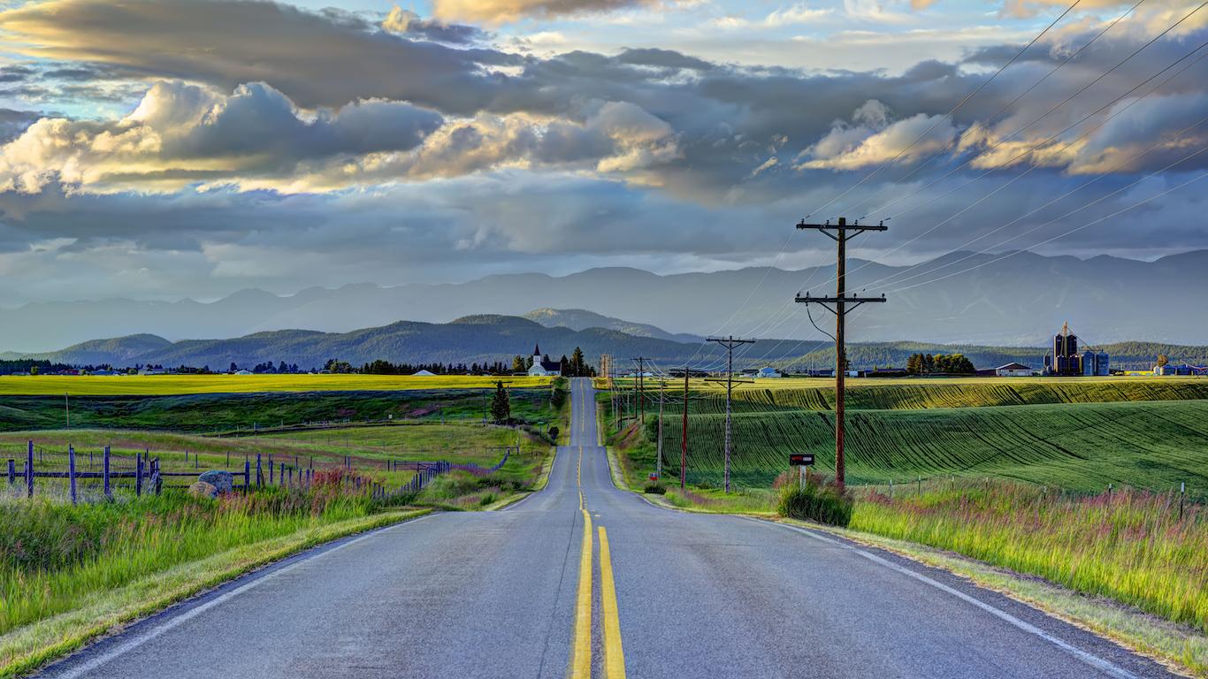 Road to Church, sunset on Mustard Fields, Kalispell Montana