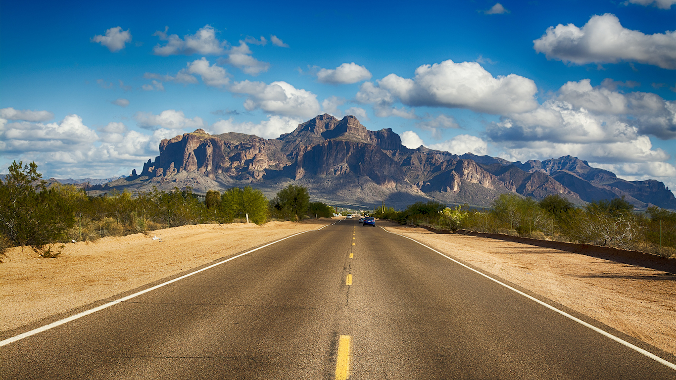 Road to Superstition Mountain Arizona