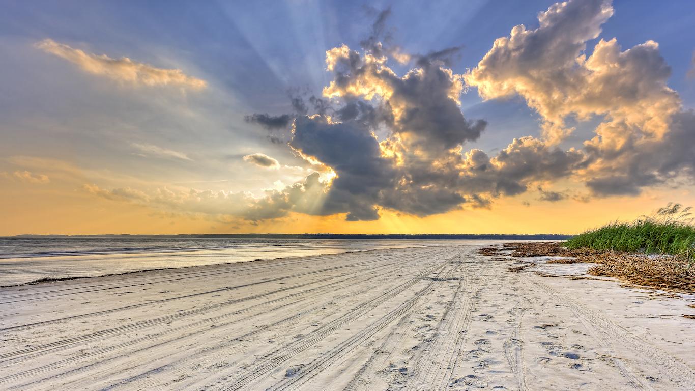 Sunset on Hilton Head Island, South Carolina