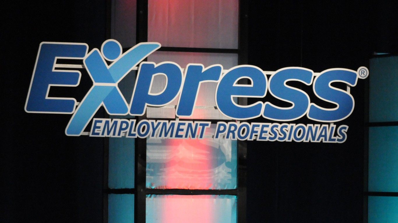 Dick Vitale on stage with Expr... by Express Employment Professionals